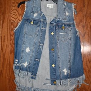 Jolt denim vest like new! Size medium